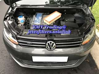 #jetexfilters_vw. #jetexfiltersasialink. VW Touran 1.6 TDI on site replacement of jetex high flow performance drop in air filter with 1.14 kpa flow rate washable air filter ..