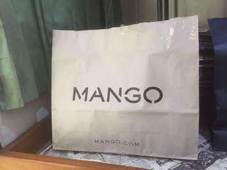 Paper Bag Mango Baju Mall ORIGINAL ASLI Large Besar