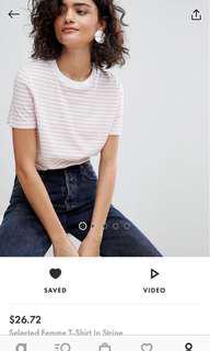 🚚 BNWT pink striped t-shirt