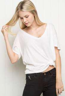 brandy melville white brittanie top