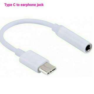 Type C to earphone jack