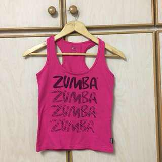 Zumba pink racer back top