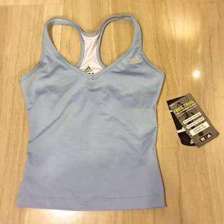 Brand new authentic blue Adidas Gym top