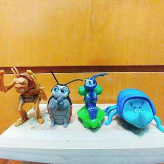 絕版 蟲蟲特攻隊 A bug's Life Figure 麥當勞上鏈公仔及蟻哥車仔 1 set Disney