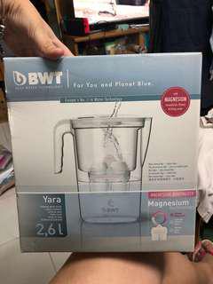 BWT德國原裝進口過濾浄水器家用濾水壺淨水壺Slim3.6L石墨藍
