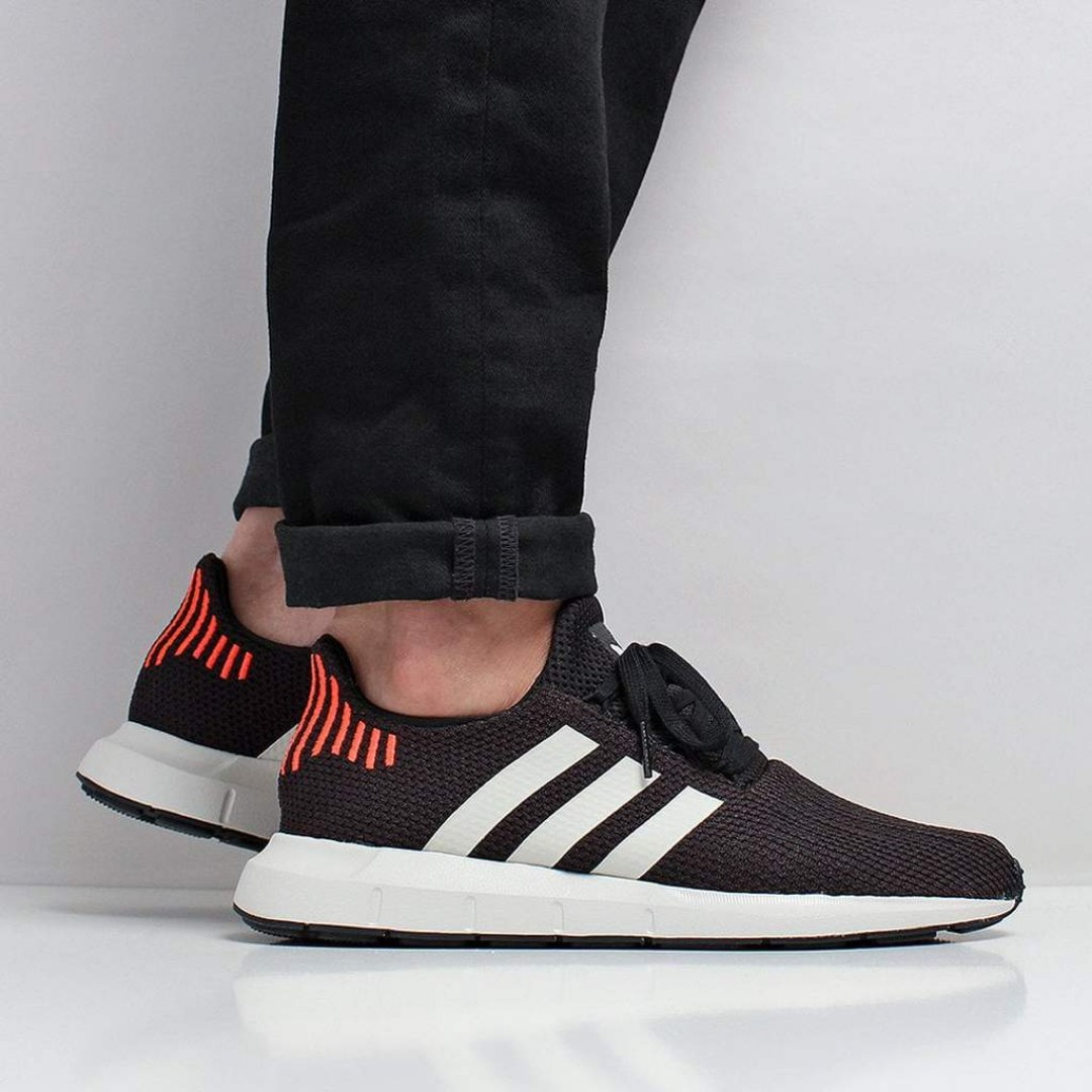 aef67f0ef Adidas Originals Swift Run Shoes – Core Black Footwear White Grey ...