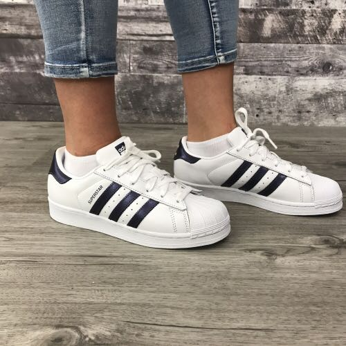 101aa34512cb Adidas Superstar White Purple Night Metallic CG5464