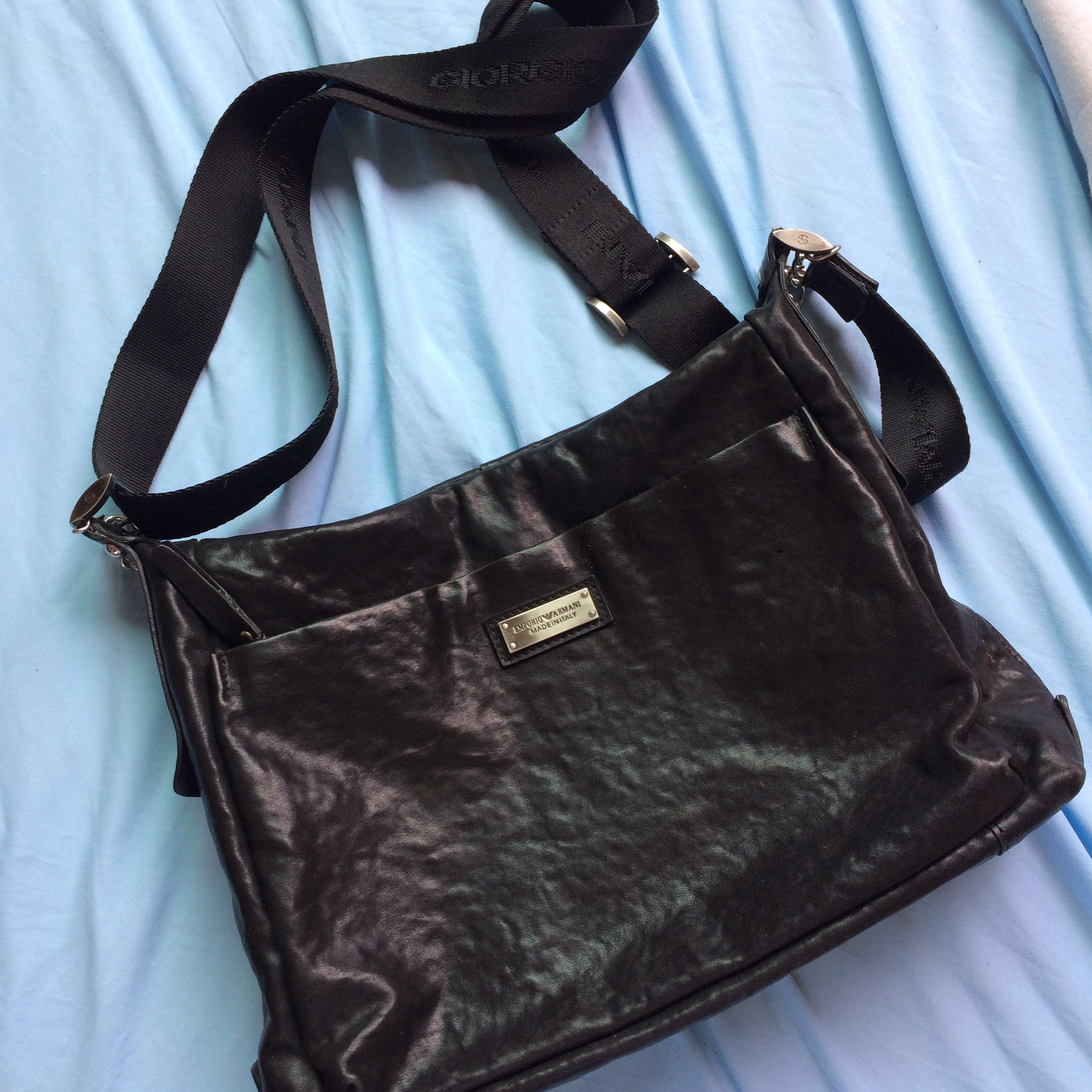 a9b4450892a Auth Giorgio Armani Sling Bag, Men s Fashion, Bags   Wallets, Wallets on  Carousell