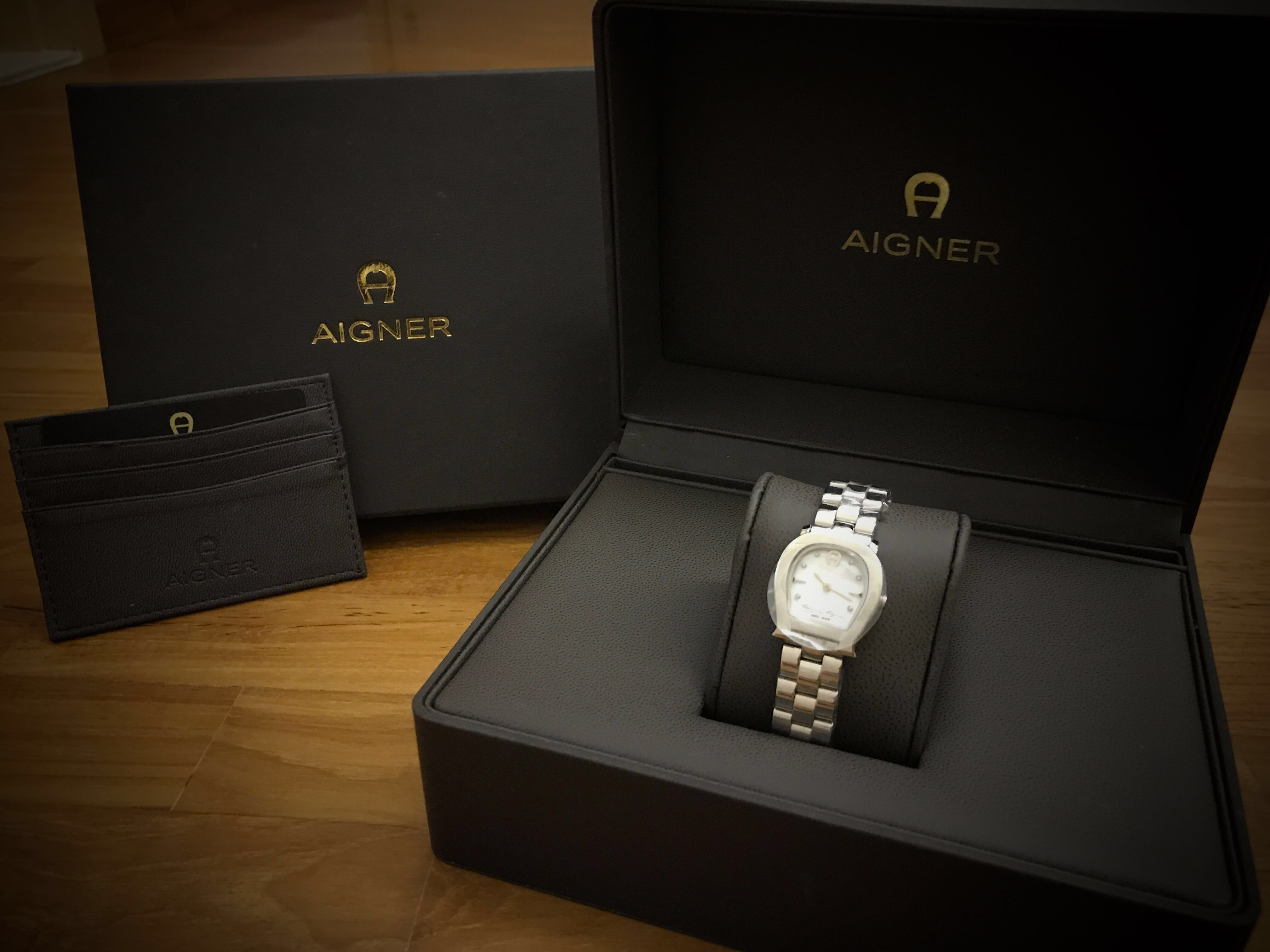Authentic Aigner Ladies Watch Set W Cardholder Luxury Watches On Women Carousell