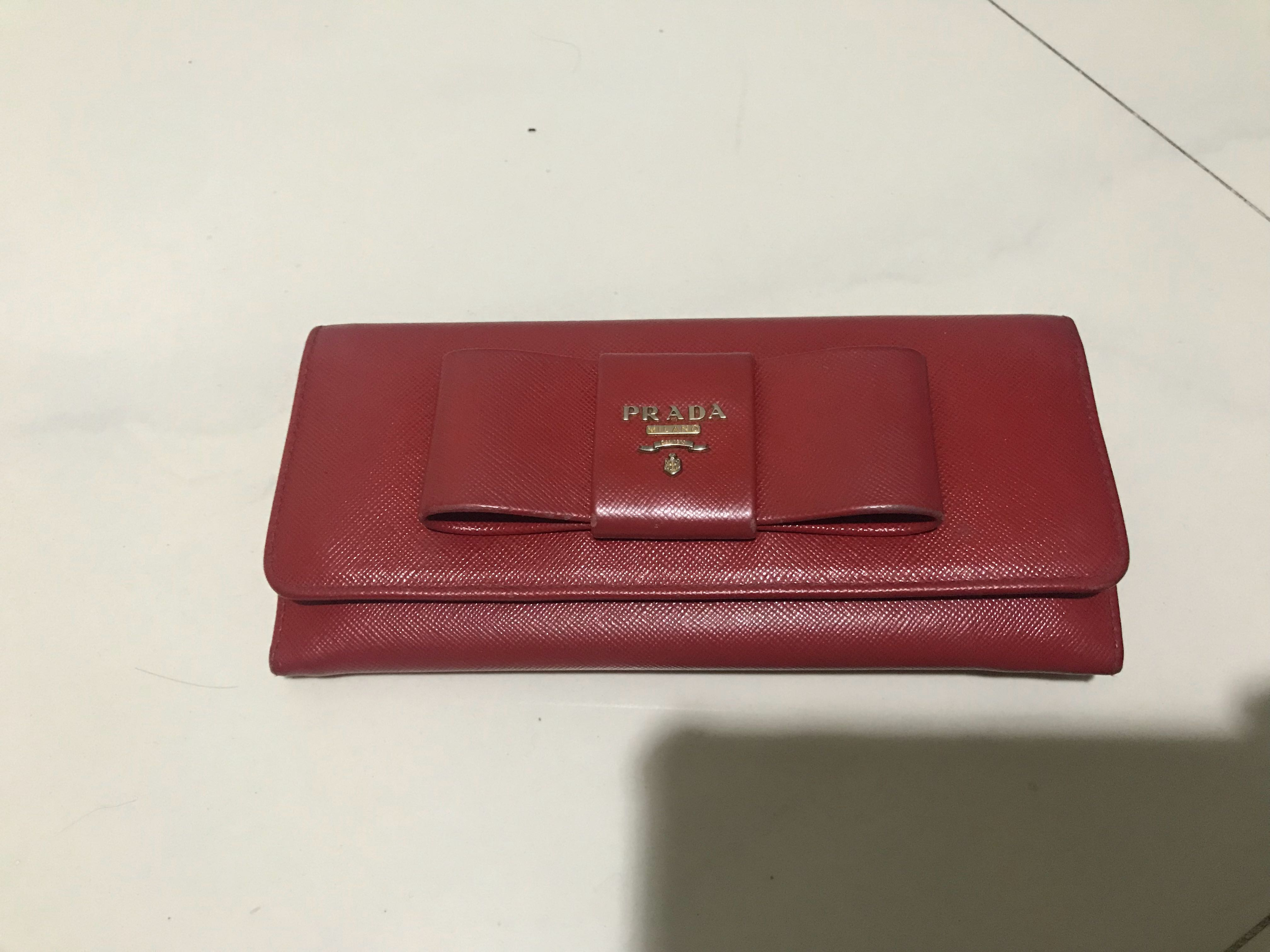 5cc35b682bfa Authentic Prada Long Wallet, Women's Fashion, Bags & Wallets ...