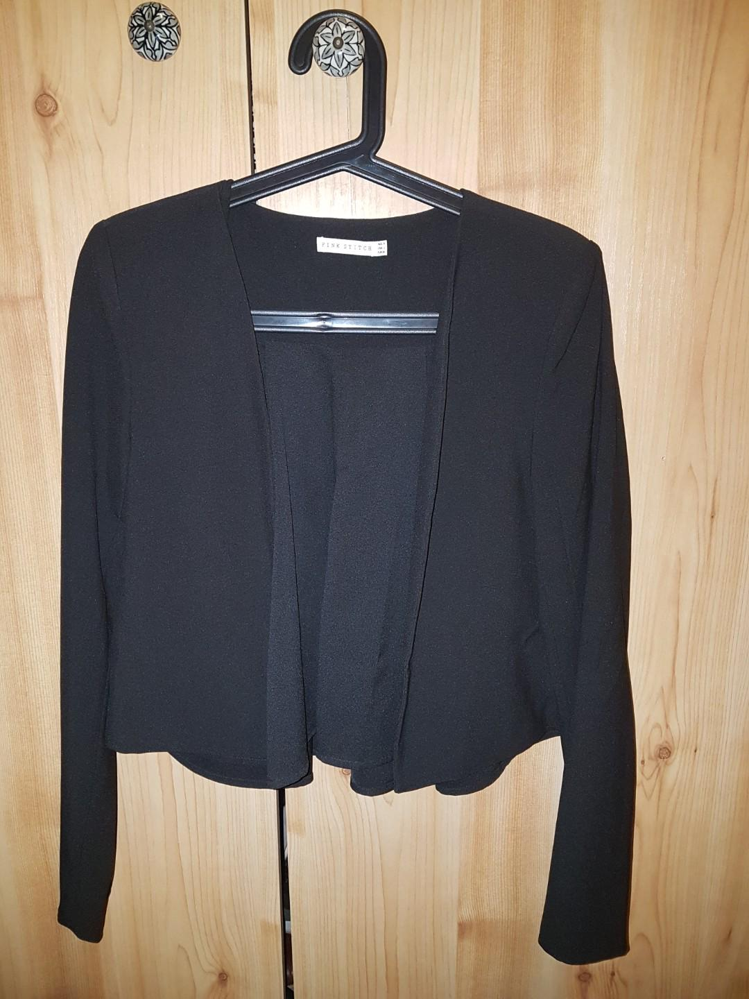 Black relaxed blazer