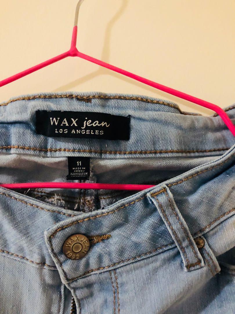 Blue denim straight cut jeans size 11