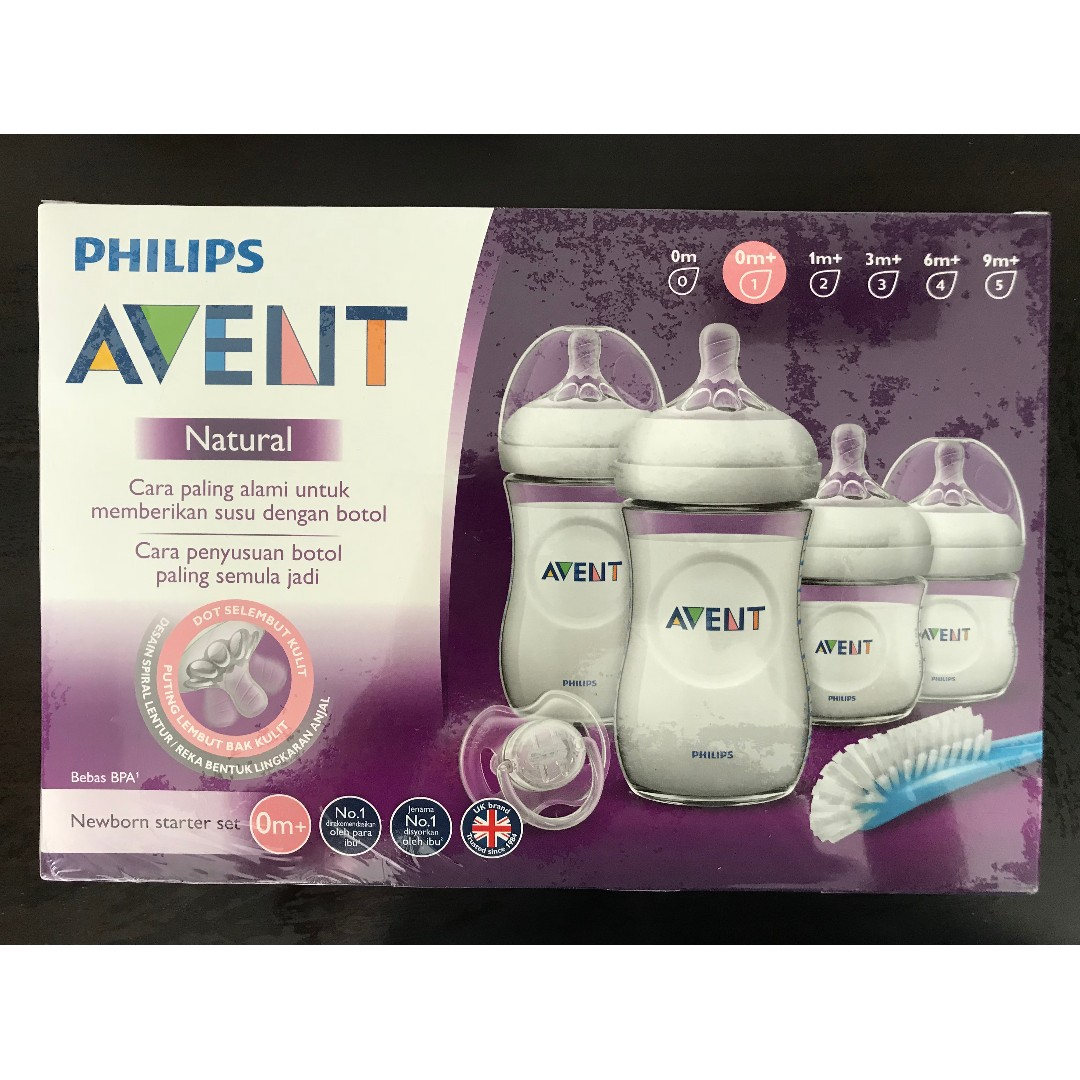 Bnib Philips Avent Newborn Natural Starter Bottles Set Babies Gift Baby Photo