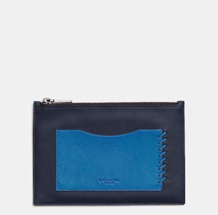 9f27957716626 BNWT Coach Midnight Denim Envelope Sport Case (Calf Leather ...