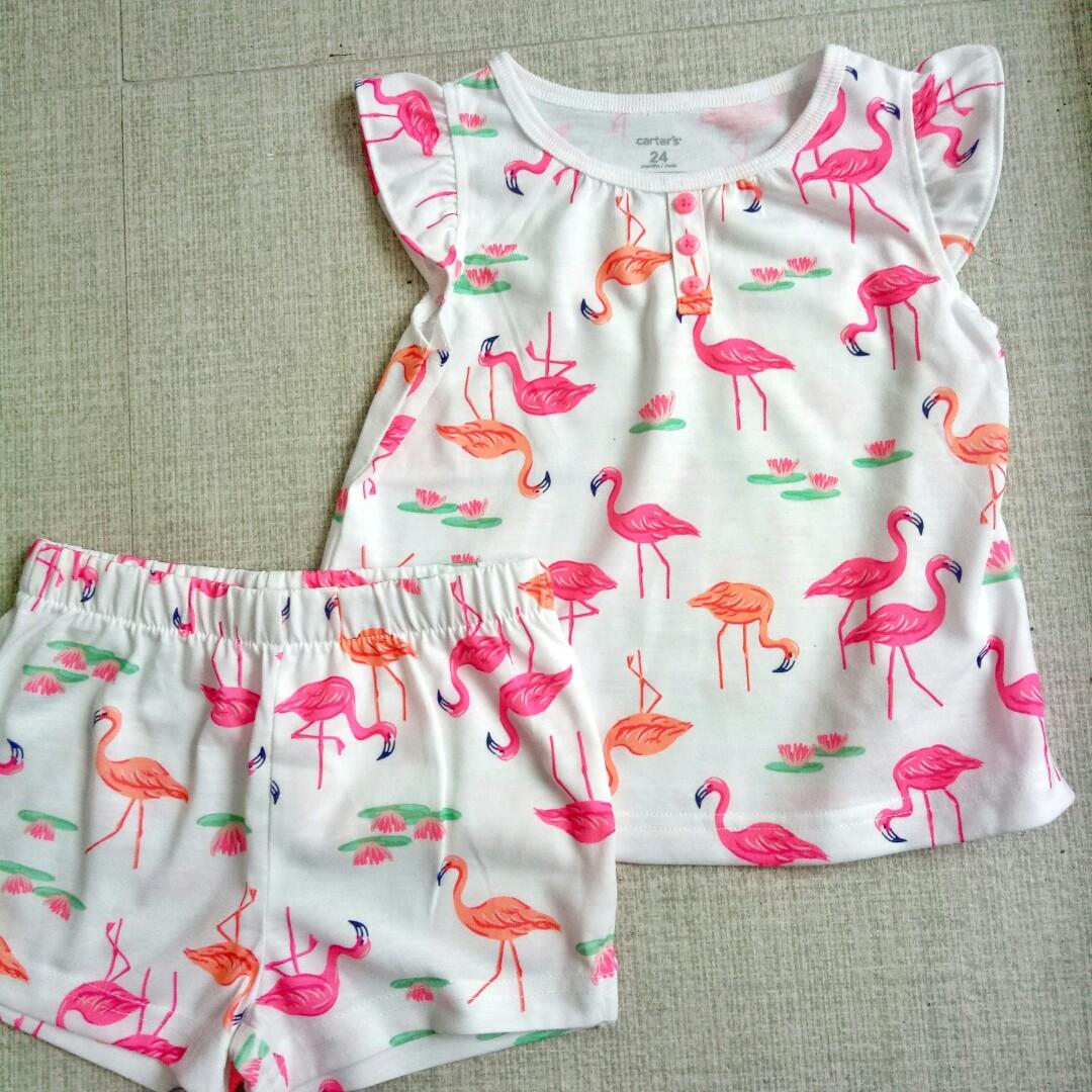 53872b698 Carter's Flamingo Set, Babies & Kids, Babies Apparel on Carousell