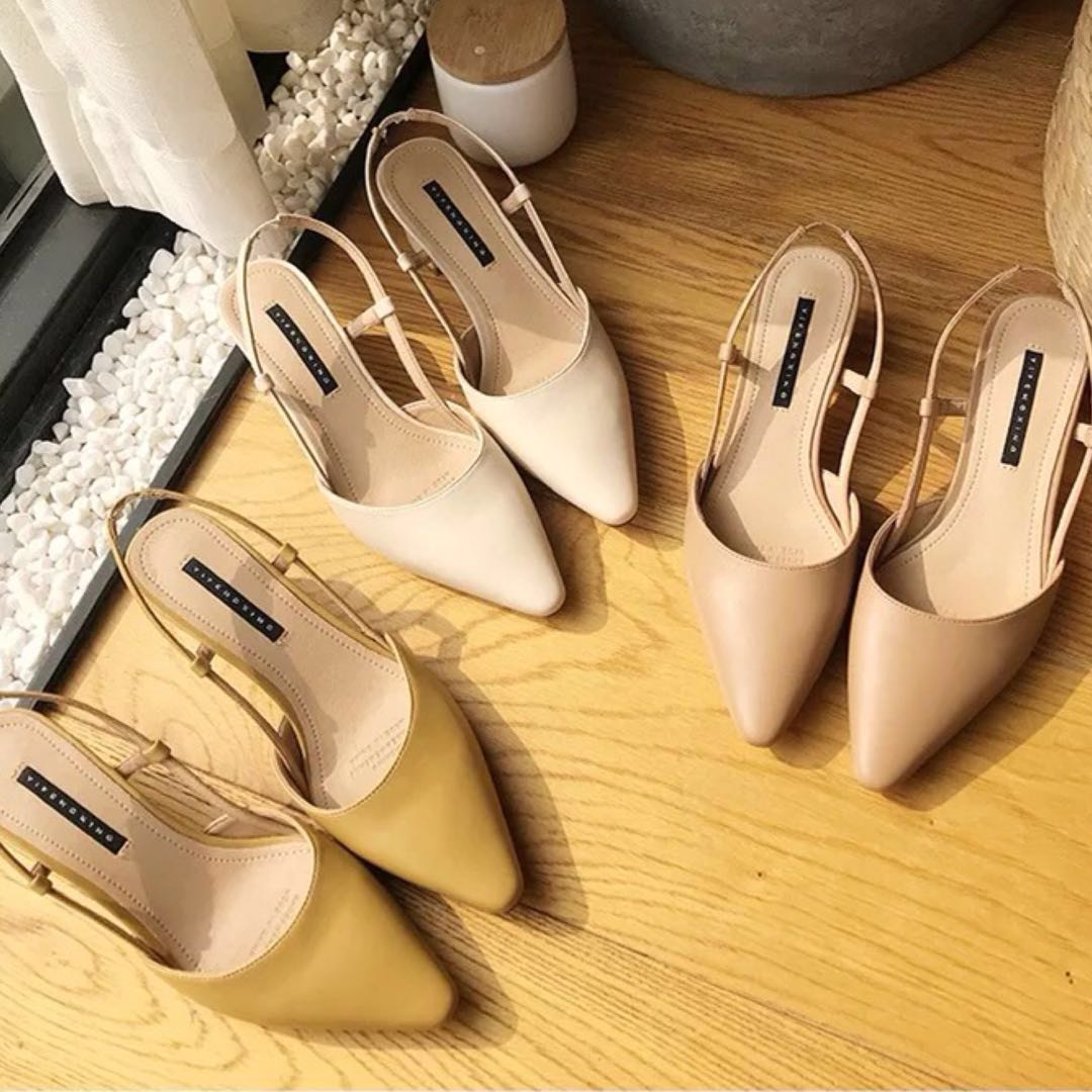 28f05feaf93 Claire Slingback Heels in NUDE