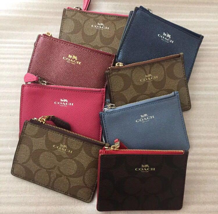 22acc8d902 Coach Key Pouch with card holder, Women's Fashion, Bags & Wallets ...