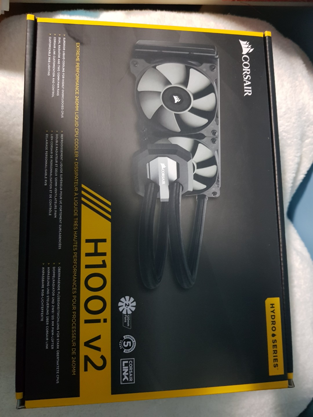 Corsair H100I V2 cpu cooler