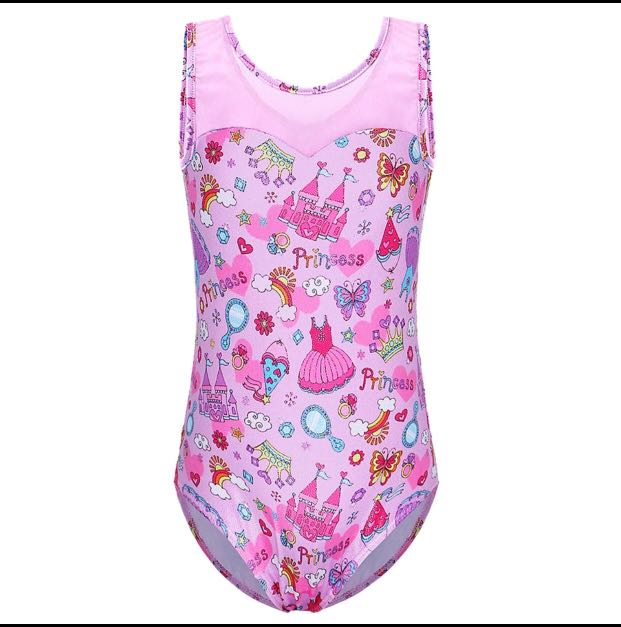 e7c89ccbf41a Girls Ballet Leotard Gymnastics Bodysuit Children Dance Sleeveless ...