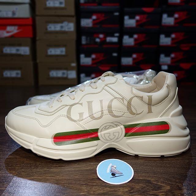 Gucci Rhyton Leather Sneaker, Fesyen