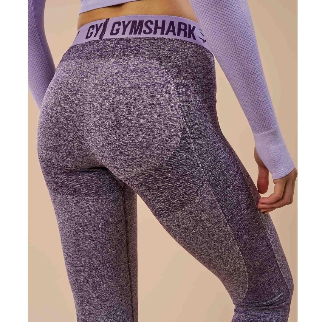 a89393cb0c33e GYMSHARK Flex Leggings - Rich Purple Marl/Soft Lilac (Size XS ...