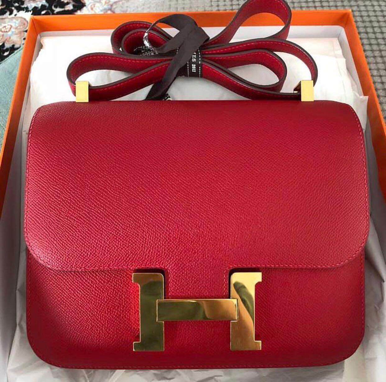 8bcb57f1f0e8 ... mm epsom bag 6d4bb 63c46 canada hermes constance 24 in rouge casaque  barangan mewah beg dan dompet di carousell 271bd 73d9e ...