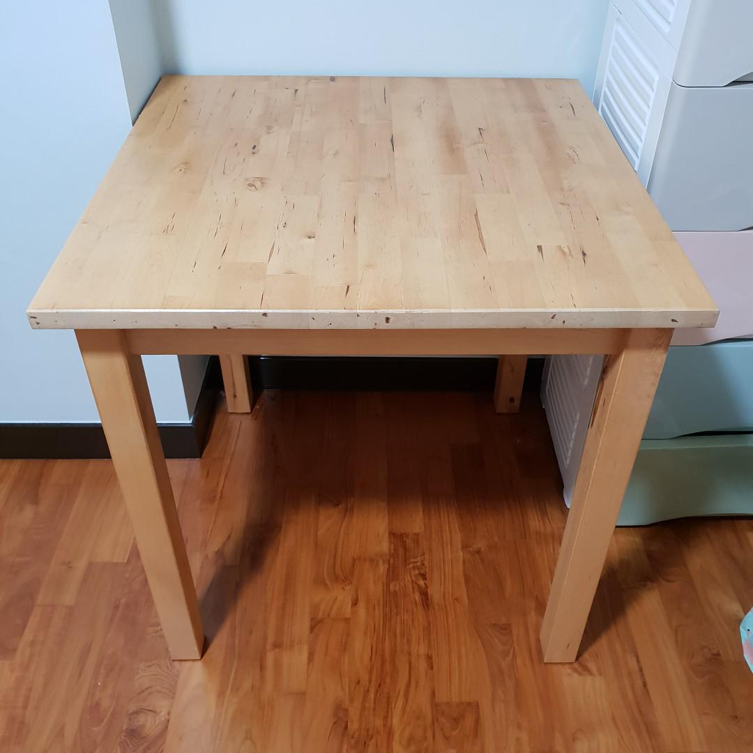 Ikea Wooden Table Norden 17343 Furniture Tables Chairs On