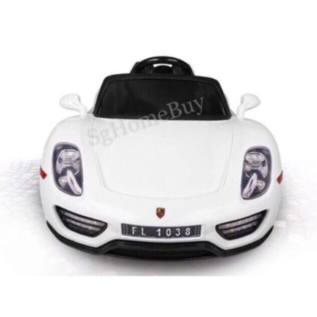 In Stock White Porsche Electric Car For Kids Babies Kids Toys