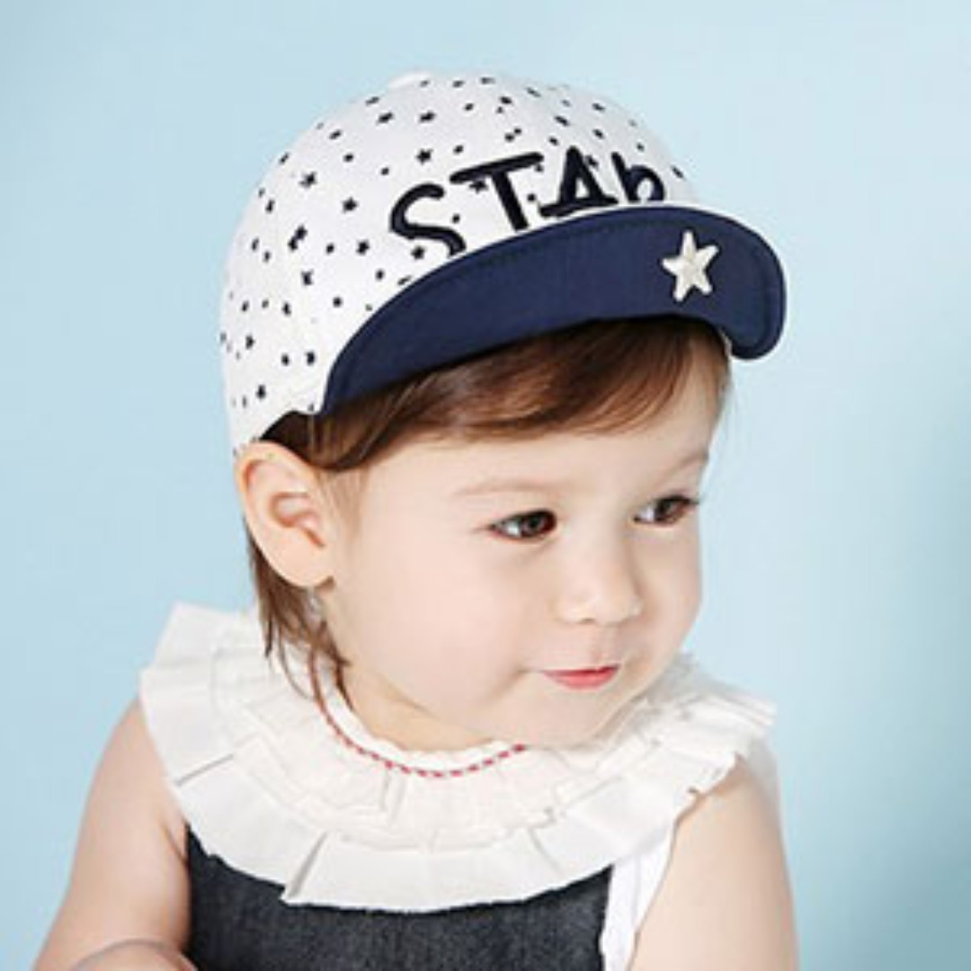 🌟INSTOCK🌟 Stars Navy Blue Cap Unisex Baby Toddler Boy and Girl Hat Kids  Hair Accessories 7d74e38f906