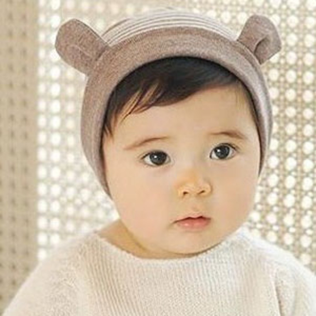 5a6f77093f4 🌟INSTOCK🌟 Stripe Brown Cute Animal Ears Unisex Newborn Baby Toddler Boy  and Girl Beanie Hat Kids Hair Accessories