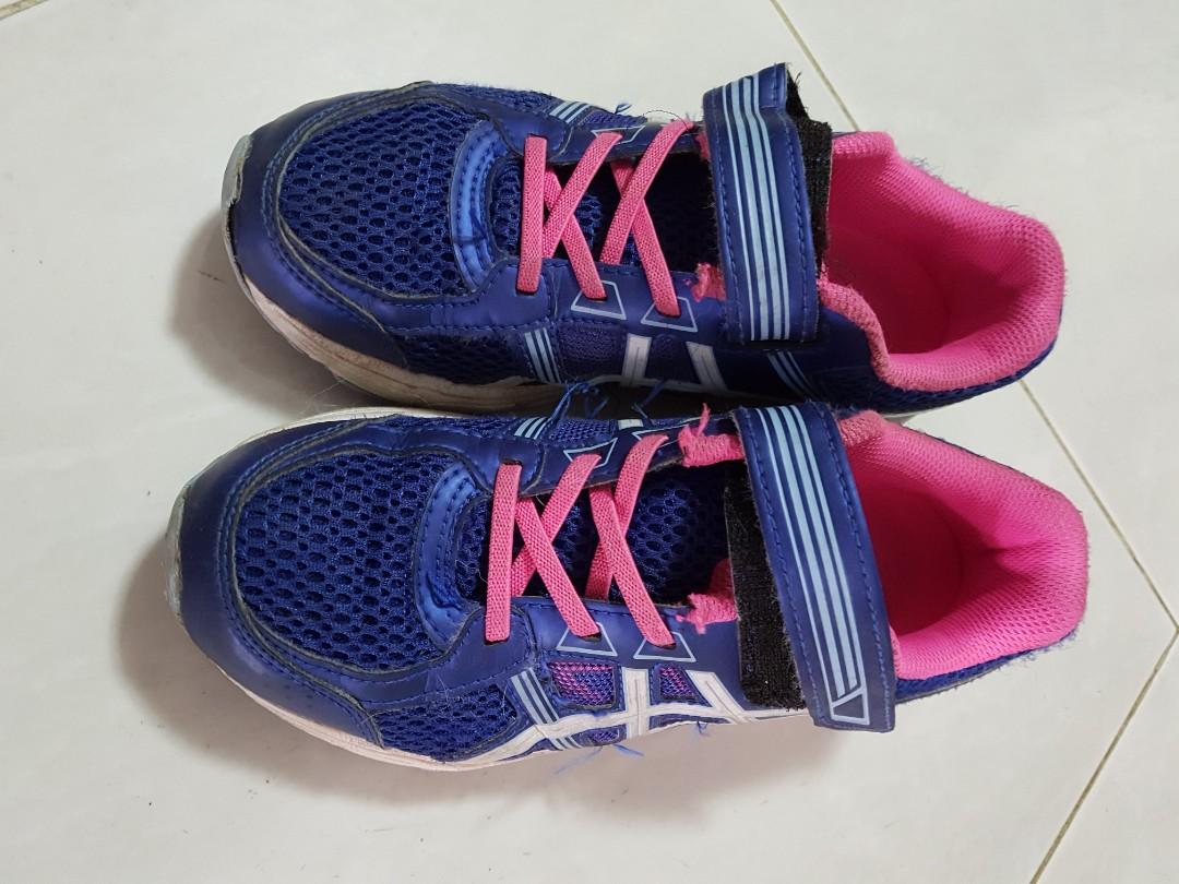 7d2157ddcd58 Kids Girls Asics Running Pre Contend 4PS Shoes
