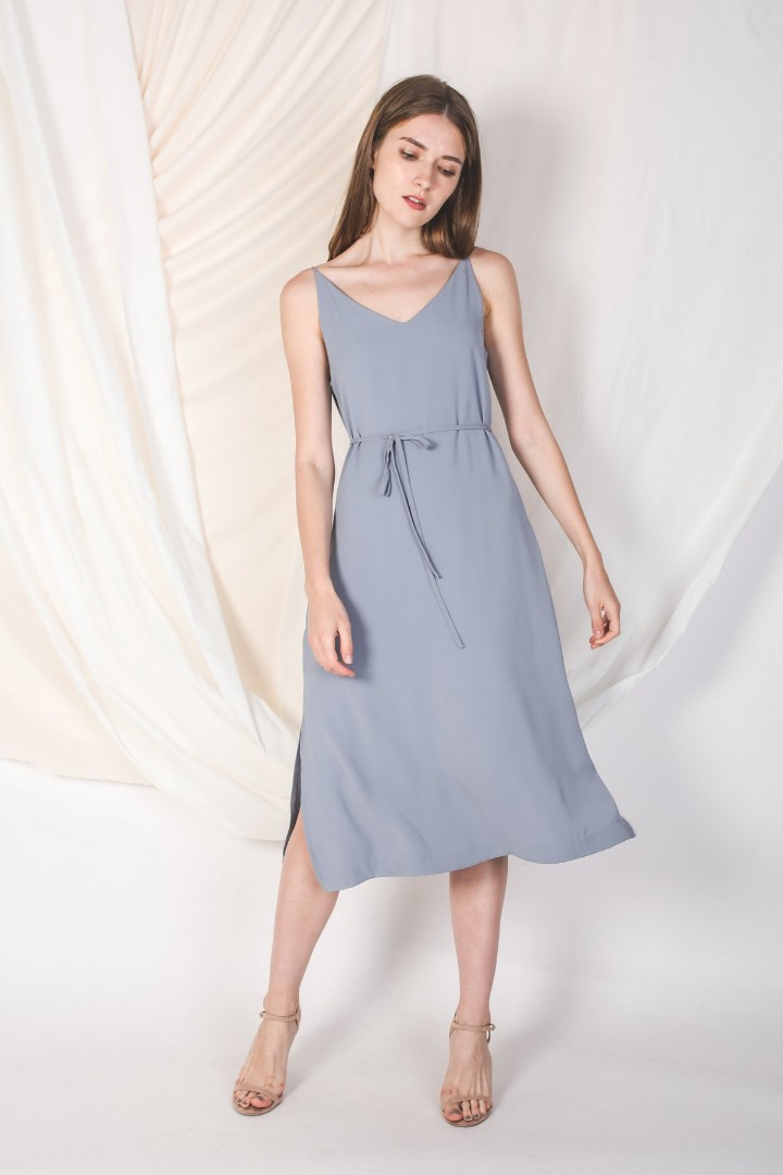 a1b876f0459e Klarra Midi Dress in Dusty Blue