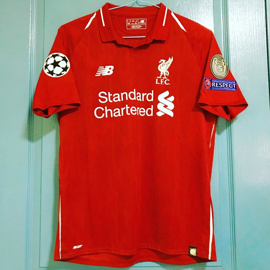 meet 5a791 aa3e7 Liverpool FC Mens UEFA Champions League Home Jersey 2018 ...