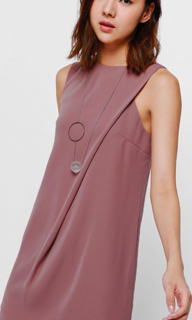70879d3f3e5 Love Bonito Foldover Dress Dark Rose XS