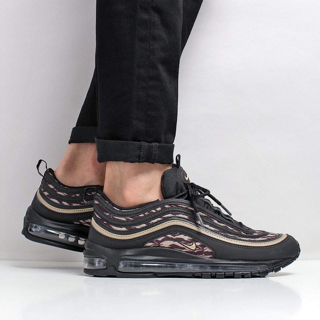 e7798011a19 Nike Air Max 97 AOP Shoes – Black Khaki Velvet Brown