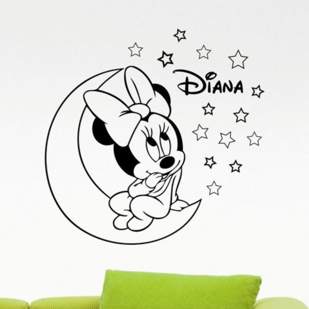 Personalized minnie mouse decal custom name walt disney