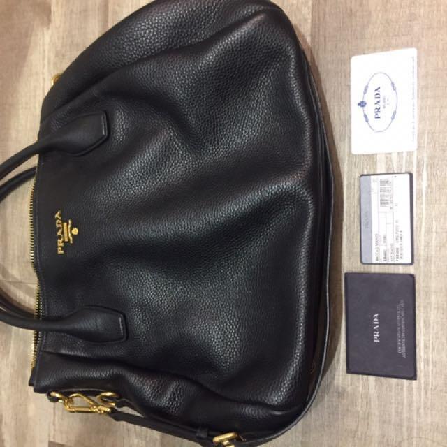 ce34fd0e4d0b Preloved prada black handbag, Women's Fashion, Bags & Wallets on ...