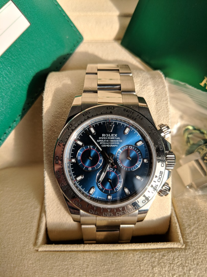 Rolex Daytona 116509 White Gold Blue Face Luxury Watches On Carousell