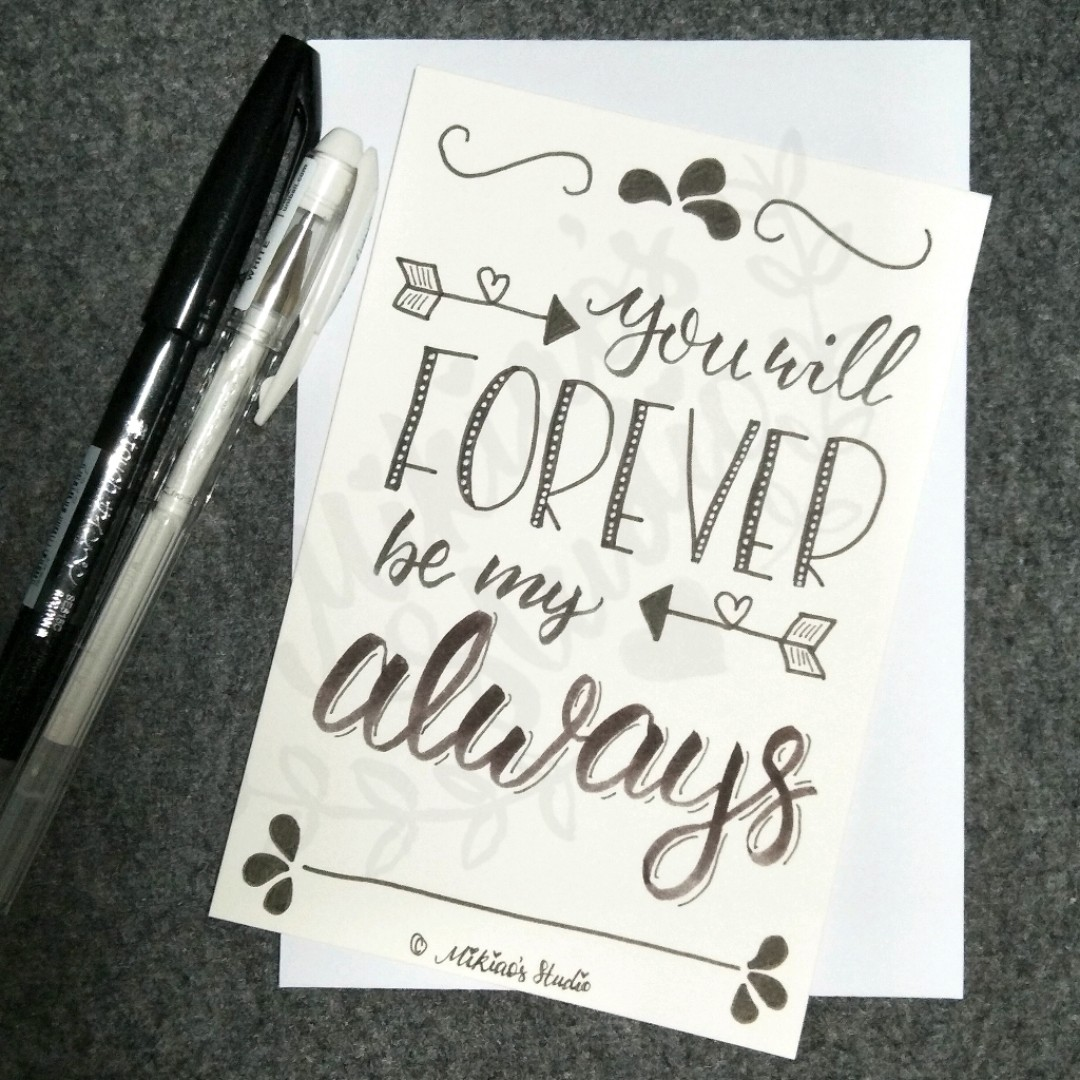 Romantic Love Quote Card You Will Forever Be My Always Design