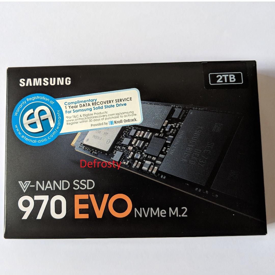 Samsung 970 EVO SSD 2TB 2048GB NVMe M 2 ( 5 Years Local Warranty )