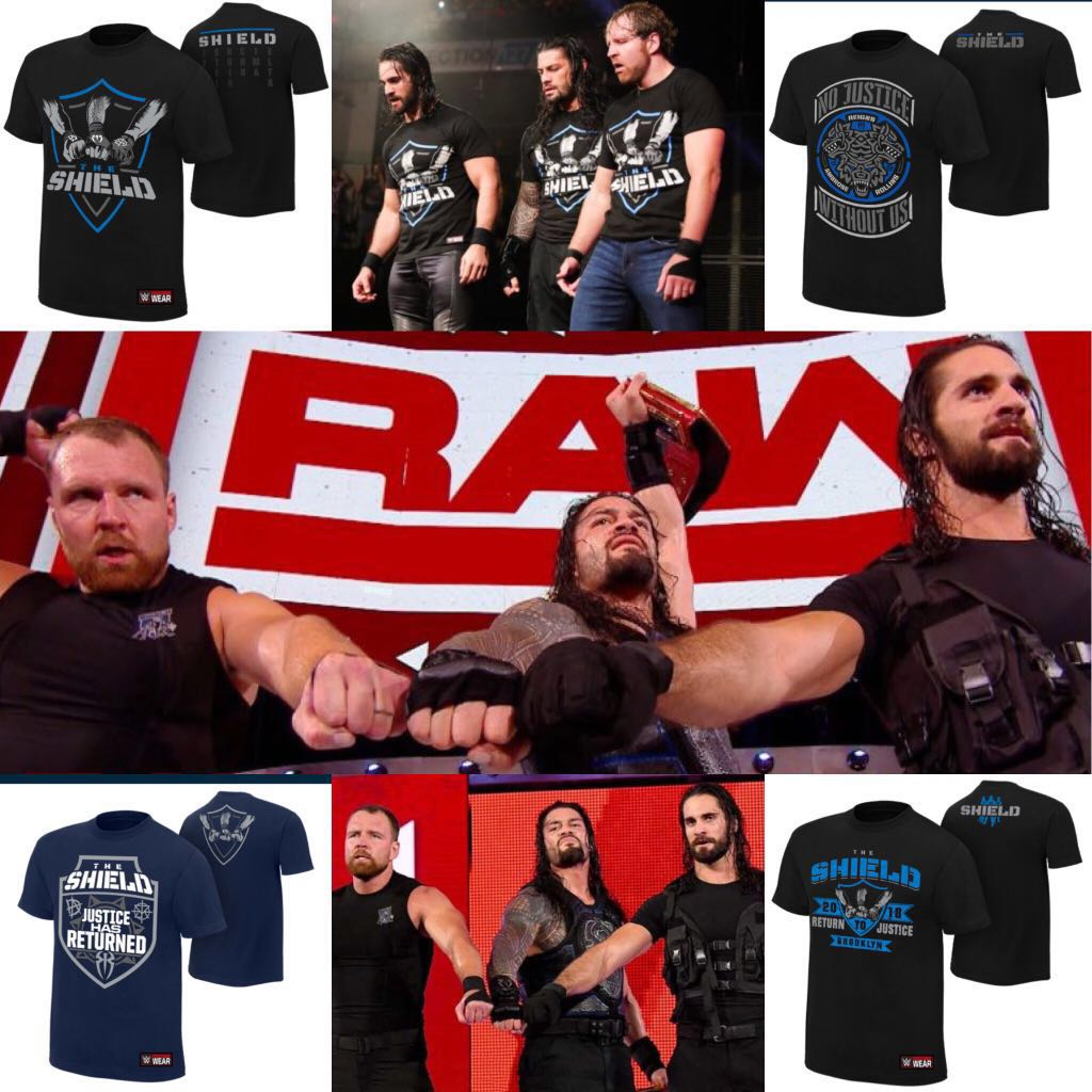 10cd5fa1 The Shield (WWE) Authentic Tee Shirts, Bulletin Board, Preorders on ...