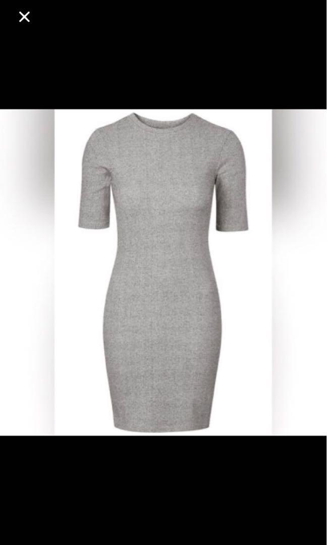 3d73ce73be7 topshop grey midi bodycon dress, Women's Fashion, Clothes, Dresses ...