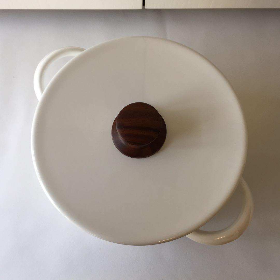 泰國VILA 白色 18cm 雙耳煲
