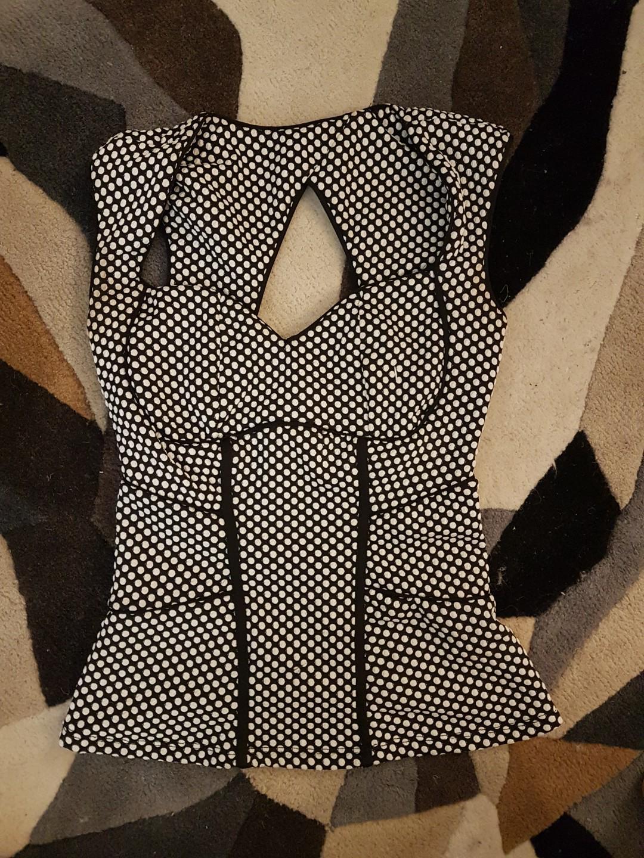 Vintage polka dot corset style top