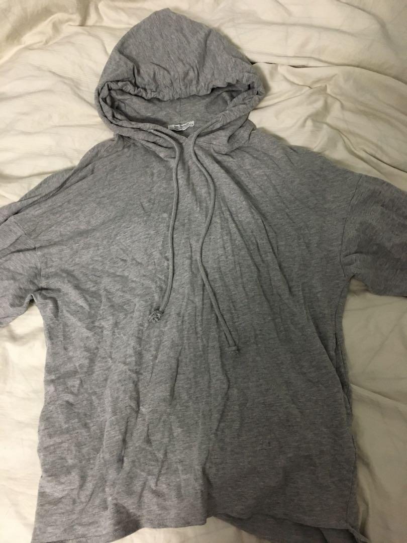Zara gray oversized light hoodie size S