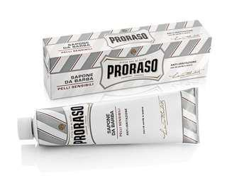 (2 for $26) Proraso Green Shaving Cream Tube with Eucalyptus Oil and Menthol 150ml