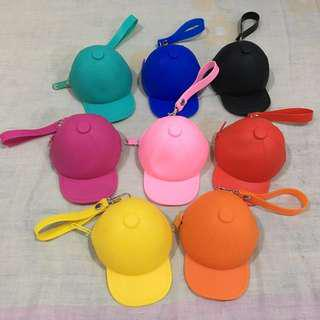 BASEBALL CAP SHAPE SILICONE COIN PURSE