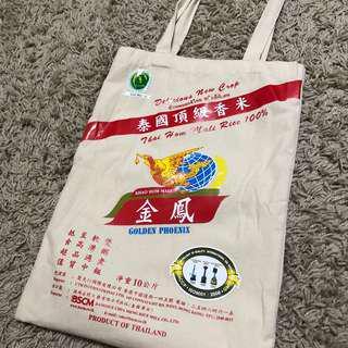 金鳳米懷舊帆布袋 側揹 環保袋