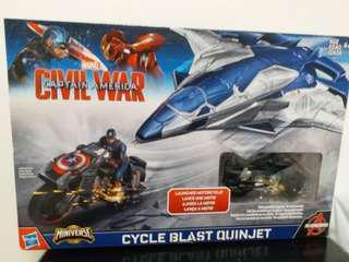 Marvel 模型 Avengers Age of Ultron: Cycle Blast Quinjet Action Figure Set [B5777]