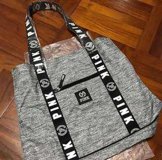 Victoria Secret PINK Marl Grey Sport Tote Gym Bag